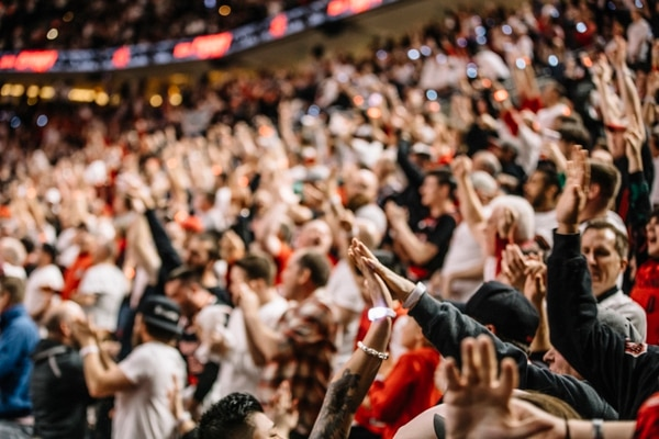 Moda Center crowd at Game 5. (Sam Gehrke)