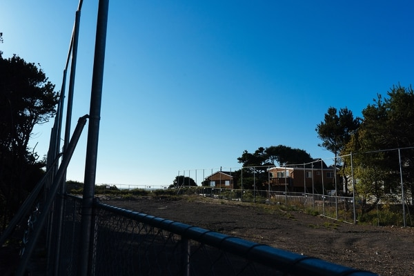 View of the interior lot owned by Facebook. The property was leveled and cleared of all vegetation to support the drilling equipment.