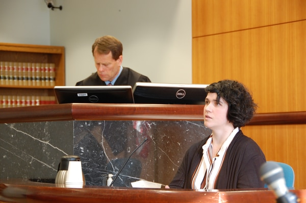 Erica Naito-Campbell testifies in Multnomah County Circuit Court on March 13, 2019. (Aimee Green / The Oregonian/Oregonlive.com)