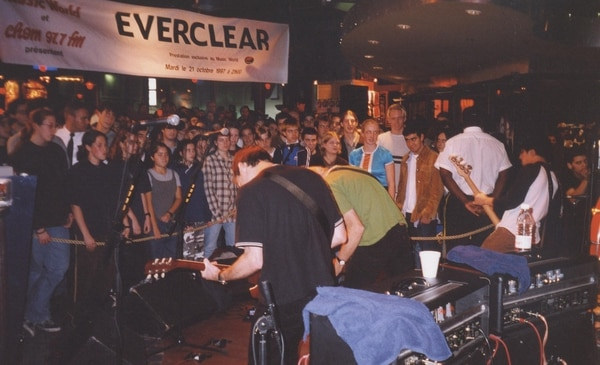 One ofEverclear's in-store shows, courtesy of Steven Birch