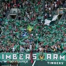 Timbers Army Portland flag tifo at JELD-WEN Field on August 20, 2011. (Steve Dipaola/Portland Timbers)