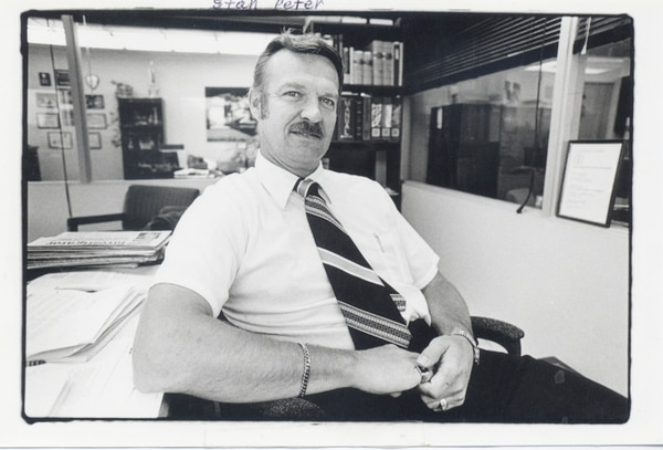 THE BOSS: The late Stan Peters served as Portland Police Association president from 1974 to 1991.