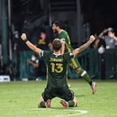 Portland Timbers defender Dario Zuparic (13) celebrates after defeating Orlando City at ESPN Wide World of Sports Complex. IMAGE: Douglas DeFelice-USA TODAY Sports.