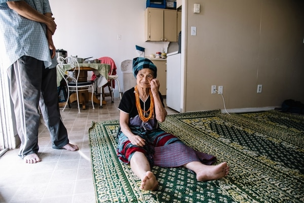 This woman, who asked not to be named, arrived in Portland from Myanmar. (Joe Riedl)
