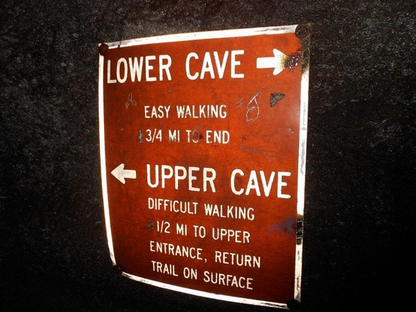 Hikers can opt for one of two routes in Ape Cave, or tackle both. Photo by Andi Prewitt.