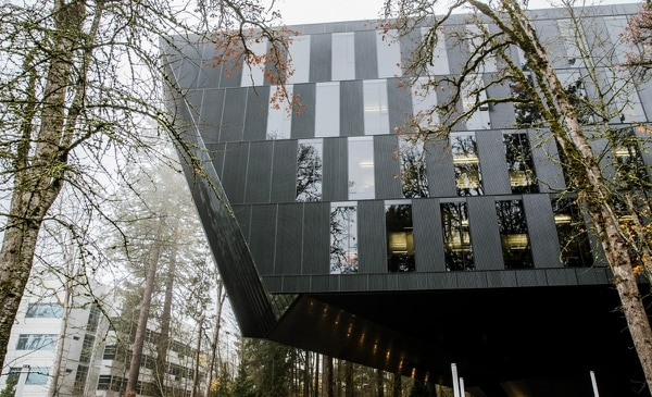 The Seb Coe Building contains a Stumptown Coffee Roasters location, just for Nike employees and visitors. (Sam Gehrke)