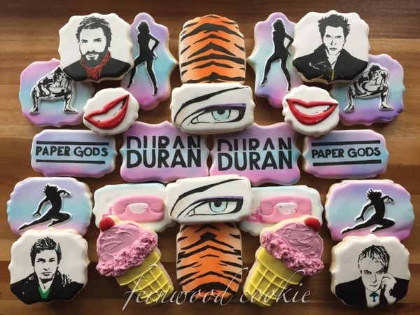 Duran Duran cookies by Kerri Roy for Amanda Taplin.