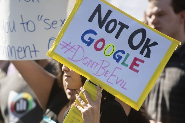 Google employees staged a walkout last year to protest a potential government contract.(courtesy of Flickr)