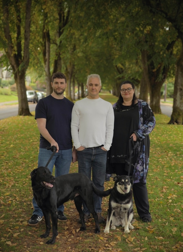 The actual writers of the papers are (left to right) James Lindsay, Peter Boghossian and Helen Pluckrose. (Mike Nayna)