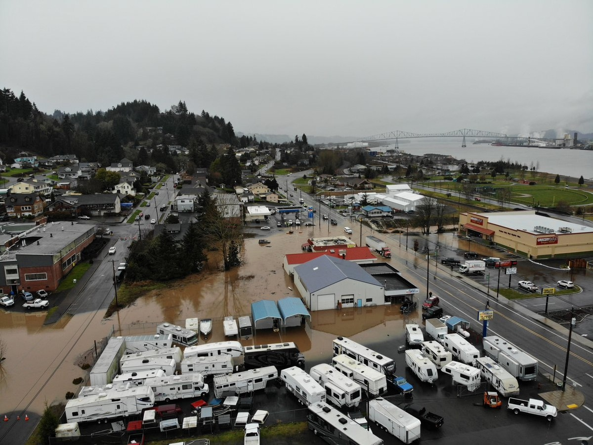Some Areas Near Portland Got Over Four Inches of Rain
