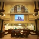 Portland City Council in session on January 16, 2013. (Mike Grippi)