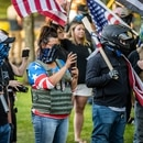 Blue Lives Matter protesters in Gresham in August. (Sam Gehrke)