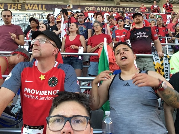 Thorns fans in Orlando (Jonanna Widner)
