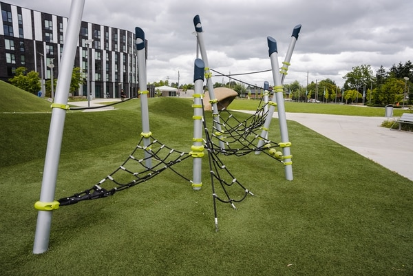 TANGLED WEB: The playground at Gateway Discovery Park, where several shootings have occurred in the past year.