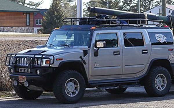 Lori and Bob Deveny's Hummer.