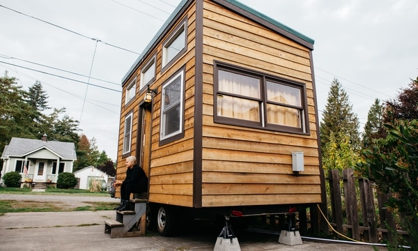 Luz Gomez's tiny home in Cully. (Christine Dong)