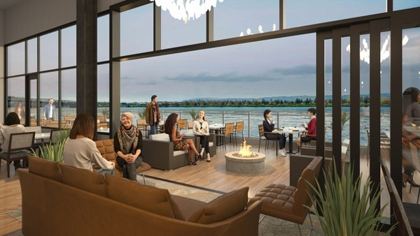 By next year, you'll be able to overlook the Columbia River from Willamette Valley Vineyards' waterfront restaurant.