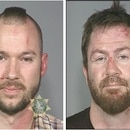 Eric Bechard (left) and Brady Lowe's mugshots following the fight outside Magic Garden in 2010.