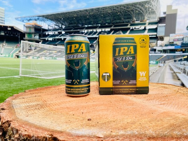 IPA 'Til I Die is the name of the Timbers new Widmer-brewed beer. Photo courtesy of Widmer Brothers.
