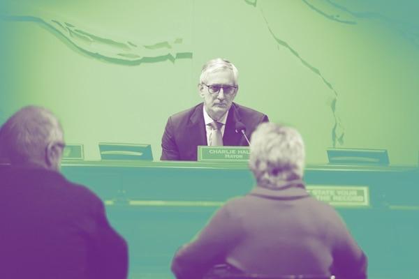Mayor Charlie Hales at City Council (Adam Wickham)