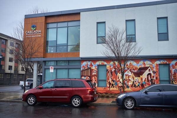 BIG PLAYER: Cascadia opened the Garlington Center in 2018, providing housing and health care under one roof.
