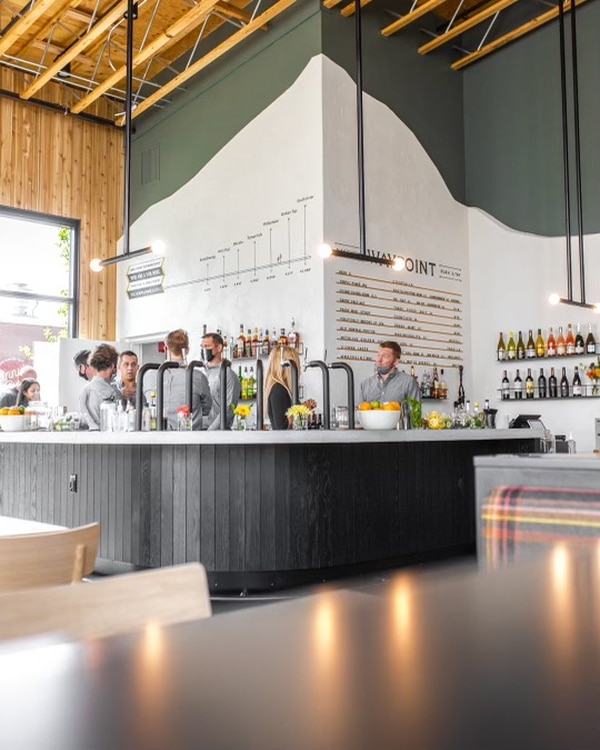Bend Brewing's new taproom, Waypoint, is now open in The Grove food hall. Photo courtesy of Bend Brewing Company.