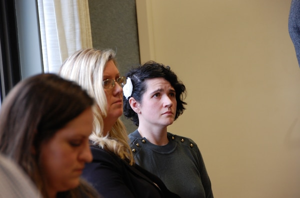 Erica Naito-Campbell (right) awaits a verdict on March 22, 2019. (Aimee Green The Oregonian/Oregonlive.com)