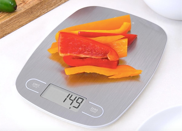 Slim kitchen scale by Greater Goods. (Amazon)