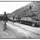 Every day, from 1:45 to 2:30, people lined up in the Oregon desert to watch Bhagwan Shree Rajneesh drive by in a Rolls-Royce. (WW archives)