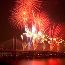 August 22, 2015- Portland,OR- Orange Line Fireworks Spectacular and Orange Picnic at Tilikum Crossing. Portland Milwaukie Light Rail Project. (TriMet)