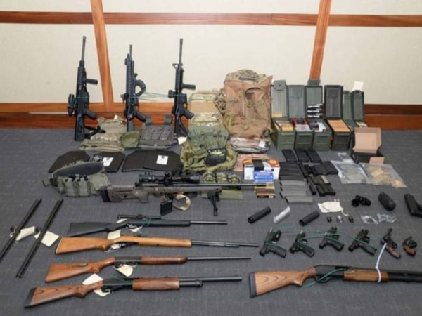 Authorities found 15 assault rifles and over 1,000 rounds of ammunition in Hasson's basement. (U.S. District Court in Maryland)