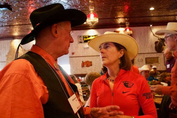 Oregon Gov. Kate Brown attends the Pendleton Round-Up in 2017. (Office of the Governor)