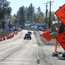 Road construction in Shady Cove, Oregon. (ODOT)