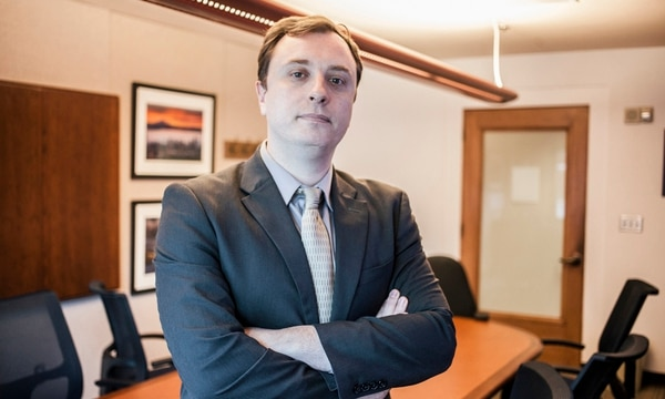 """Multnomah County Deputy District Attorney Ryan Lufkin is trying to end a legal loophole that makes motor vehicle theft difficult to prosecute. """"We're really doing a disservice to allow people to run roughshod over the law,"""" he says. (Sam Gehrke)"""