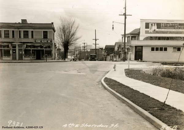 SW 4th and Sheridan, 1931 (City of Portland Archives)