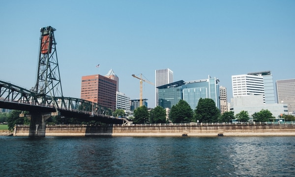 Mental health workers say barriers could reduce suicide attempts on Willamette River bridges. (Daniel Stindt)