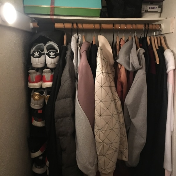 Two wall lights in my hall closet and I have no problems findingmy jackets. (Walker MacMurdo)