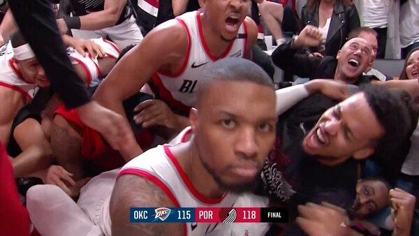 Dame looks at camera. (NBCSportsNW)