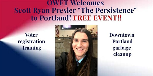The invitation to Presler's Oregon event. (Eventbrite)