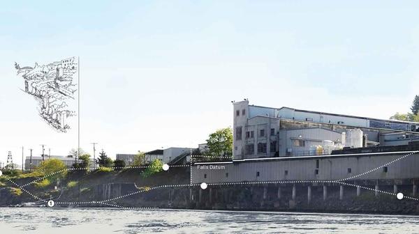 Willamette Falls Legacy Project rendering.