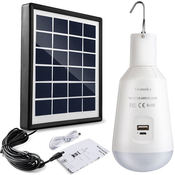 Charging by sun or by USB. (Amazon)
