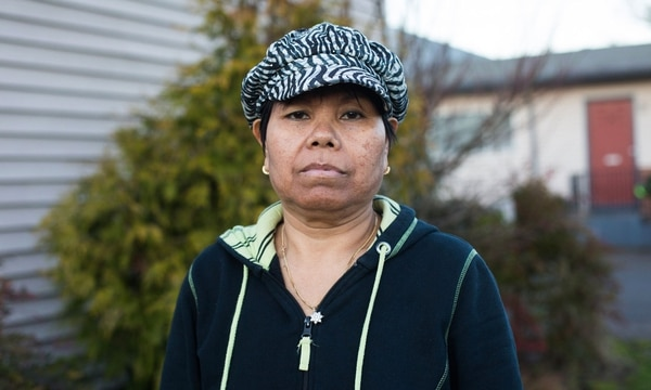 Rath Sok moved to Portland 32 years ago. She left the city this month after her landlord paid her to move. (Walker Stockly)