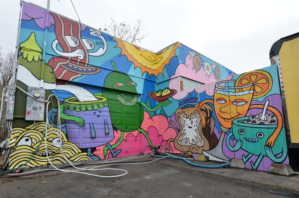 This Portland Duo Covered Racist Graffiti With A Crazy Mural