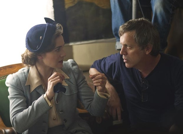 Todd Haynes and Kate Winslet on the set of HBO miniseries Mildred Pierce