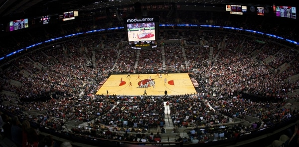 The Portland Trailblazers defeat the Houston Rockets in 2013 at the Moda Center in Portland, Ore., 111-104 (Photo by Chris Ryan).