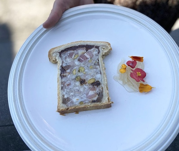 The pate en croute at La Moule. IMAGE: Aaron Barnett.