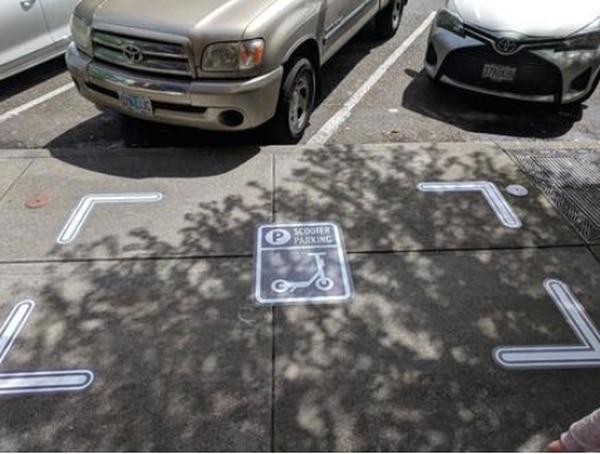 Scooter parking spot (PBOT)