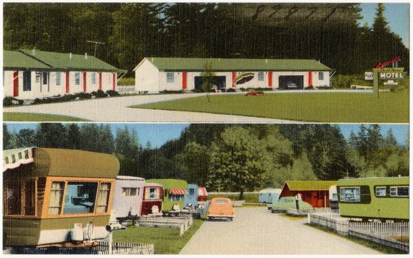 Crest Haven Motel and Trailer Park, 2400 Samish Highway on 99 south, Bellingham, Washington (Boston Public Library)
