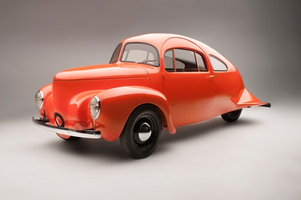 Airomobile, 1937. Photo: Jeff Dow. Courtesy of National Automotive Museum, The Harrah Collection