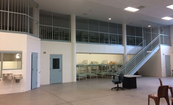 Wapato was never used as a jail but opponents of using it as a shelter say it sure looks like one. (Photo by Julia Comnes)
